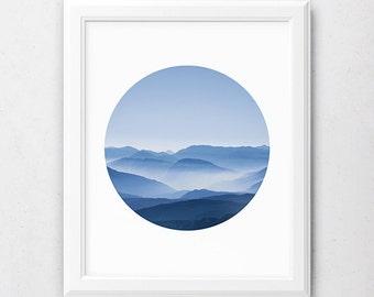 Art Photo Prints, Blue Mountain, Nature Art, Poster Download, Downloadable Art Prints, Mountain Photography, Mountain Print, Landscape Print