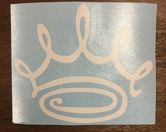 Zeta Doodle Crown Sticker Vinyl Decal Zeta Tau Alpha Big Little New Member Pledge Gift