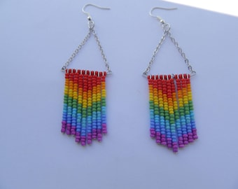 Earrings cheyenne Rainbow (possibility of necklace or other color)