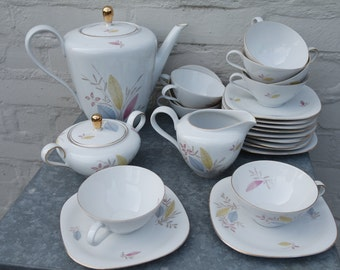 "Vintage 50s Bavaria ""Claudia"" china 23 pieces coffee/tea set"