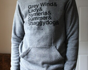 DISCONTINUED! A Game of Thrones // Direwolves Eco-Fleece Hoodie // Grey Wind, Lady, Nymeria, Summer, Shaggydog, Ghost