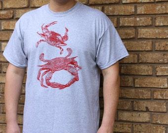 Red Crab T-Shirt, Crabby Shirt, Summer Shirt, Beach, Maryland Crab Shirt