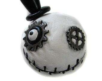 Steampunk Magnet - Halloween Magnet - Goth Magnet - Steampunk Pin