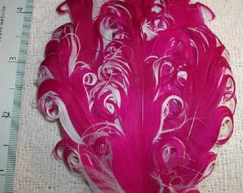Hot Pink and White Nagorie Feather Pad