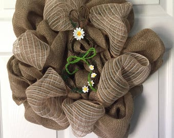 Burlap Spring Time/ Easter Wreath