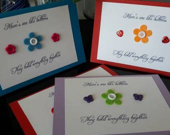 Mother's Day Cards, Button Cards