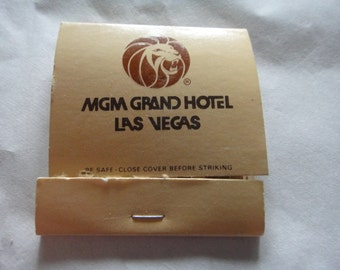 Vintage MGM Grand Hotel Las Vegas Match Book