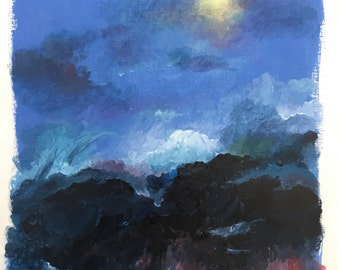 HEAVENS OPEN. Landscape painting to buy from the artist. Only one of it's kind available.