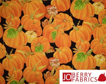 Pumpkin Fabric, Harvest Time by Jane Maday for Wilminton Prints, Quilt or Craft Fabric, Fabric by the Yard
