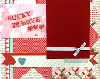 Lucky In Love - Premade Scrapbook Page