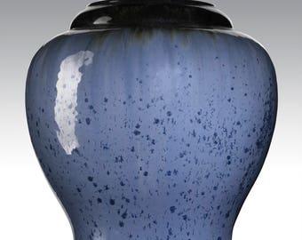 Large Fulper Vase, Blue Glaze, Art Pottery