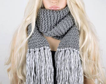 Scarf, Fashion Scarf, Trendy Scarf, Long scarf, 2 Color scarf, Super Soft Scarf, Anti Allergic Acrylic Scarf