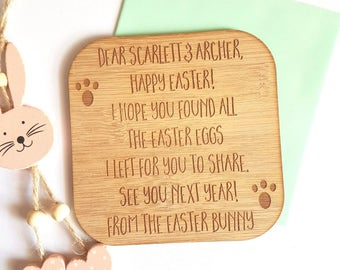 Personalised-Custom letter from the Easter Bunny-note