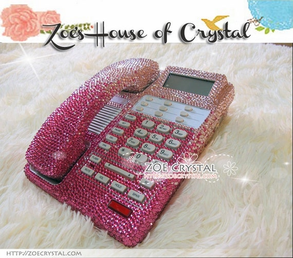 Superb Bling And Sparkly Pink OFFICE / DESK PHONE To Ensure A Good