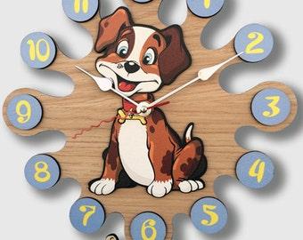 Pendulum Wall Clock Dog