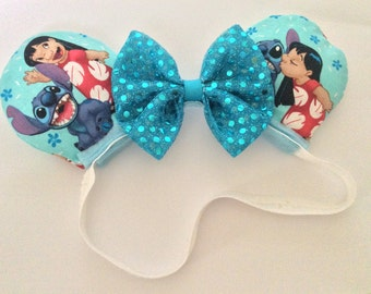 Lilo and stitch mouse ears, baby headband, toddler headband