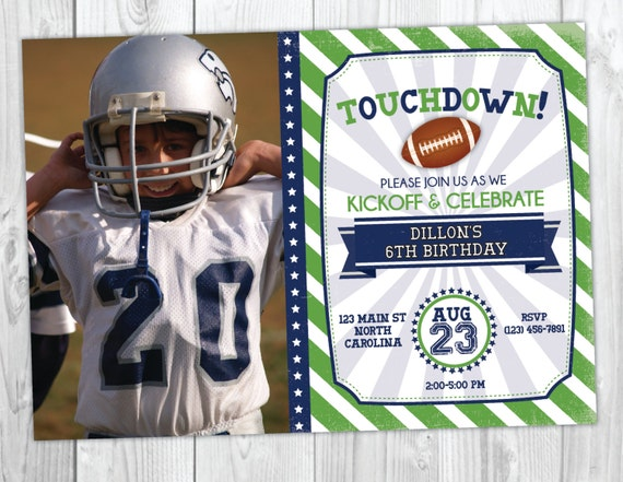 Football Birthday Invitation / Football Party / Football Invite / Sports Party / Sports Invitation