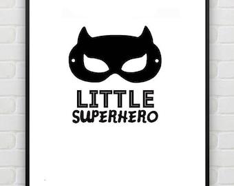 Little Superhero print