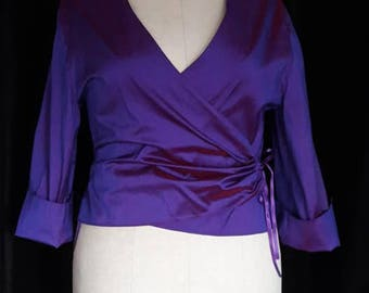 Jacket cover - purple silk heart