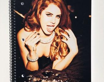 Custom Lana Del Rey notebook ; Diamonds