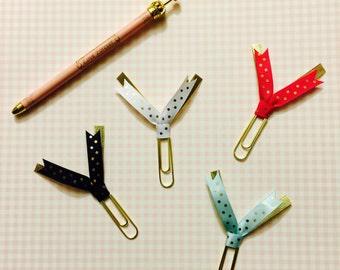 Ribbon Paper Clips (MIX n MATCH, jumbo, set of 4)