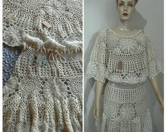 Crochet Dress. Fadhion Dress .  Midi Dress