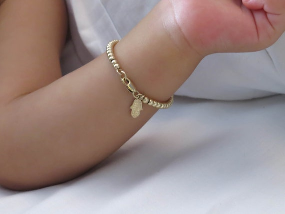 Infant Bracelet Baby Bracelet Child Bracelet Gold Bracelet