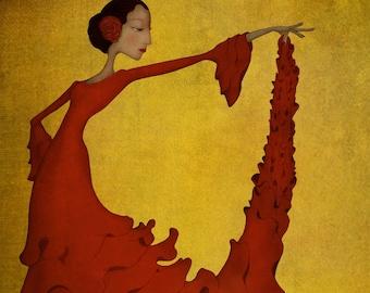Flamenco - Art print (3 different sizes)
