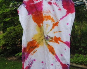 Hand Tie Dyed Tank top Size SMALL