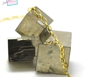 """1 m of mesh chain """"Oval 6 x 5 mm"""", gold 03"""