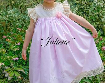 Juliette - heirloom portrait dress & slip pattern sizes 2 - 6