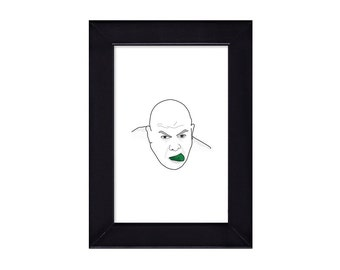 4 x 6 Framed George The Animal Steele WWE / WWF Portrait