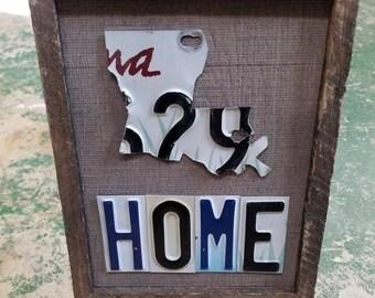 Louisiana License Plate Art - Home