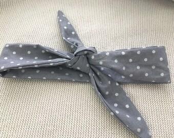 Knotted Headband - Gray