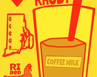 Rhode Island Love  Art Print by Giraffes and Robots