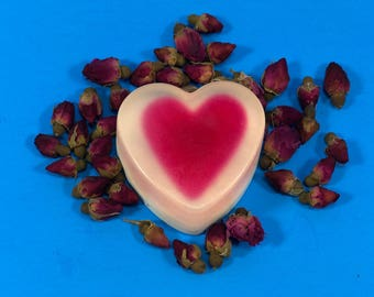 Ku'uipo (My Sweetheart) Glycerin Heart Soap with smooth edges