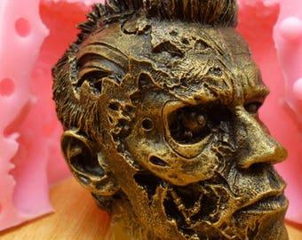 3D Arnold Schwarzenegger Mold, Silicone T2 mold