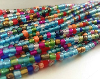 "African Waist Beads -- Goodies -- 43"" : Seed Beads, Glass beads, African Beads, Toma Beads"