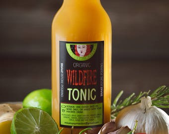 Sinus - Medicinal - Detox - Organic Apple Cider Vinegar - Turmeric - Raw Honey - Cold and Flu Tonic - Healing Elixir - Garlic - Hot Pepper