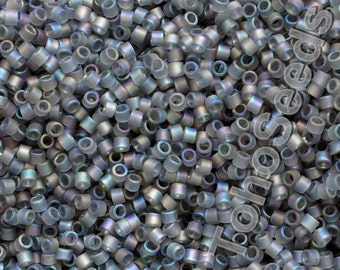 5g Toho 11/0 Treasure Cylinder Seeds Beads Rainbow Frosted Matte Gray Black Diamond TT-01-176BF Cylinder Rocailles Grey AB