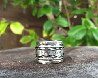Sterling Silver Personalized Spinner Ring
