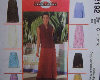 McCall's 2192 Wrap Skirts in Two Lenghts   Size 10-12-14 New-Uncut