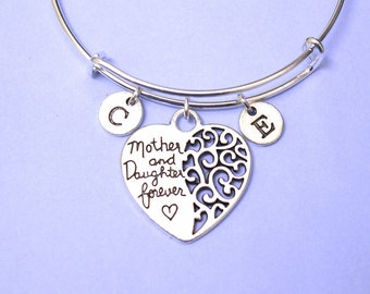 Mom bracelet, personalized mother daughter gift, gift for mom, Mother Daughter bracelet,Mother and Daughter forever, Mother Day gift, mummy