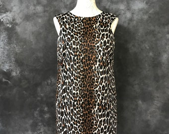 Vintage 1960's Vanity Fair leopard print nightie size 36 Jungle Beauty