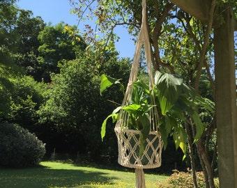 Macrame Natural Hanging Basket