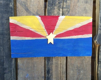 Wood Arizona Flag // Rustic Decor // Desert Home
