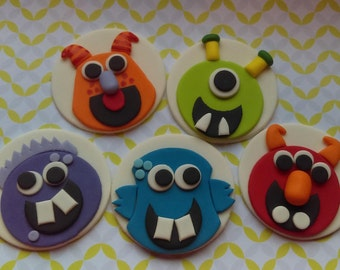 Edible Monster Cupcake Toppers Set of 12