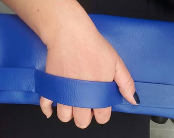 Stunning blue folded pattern Pocket