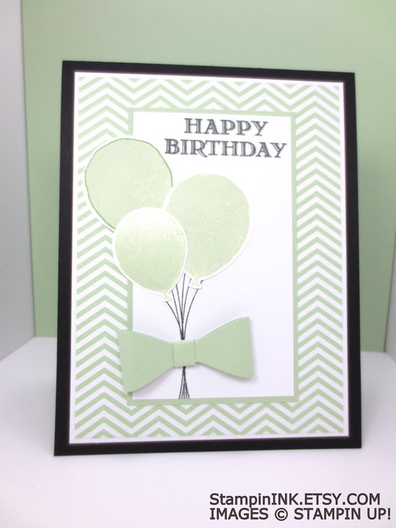 Handmade Birthday Card Stampin Up Birthday Balloons Happy