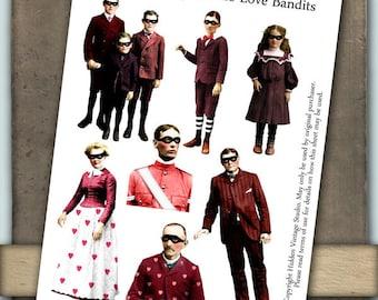 Love Bandits Digital Collage Sheet